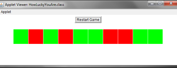 a simple java applet game