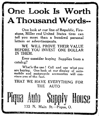 1913_Piqua_Ohio_Advertisement_-_One_Look_Is_Worth_a_Thousand_Words